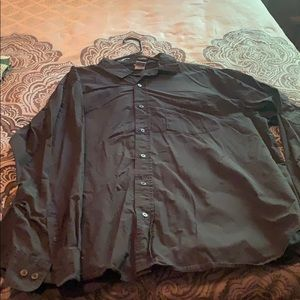 Old navy black long sleeve button up
